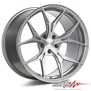 20 Rohana Rfx5 Brushed Titanium Concave Wheels Fits Honda 5x114 3 Or 5x4 5