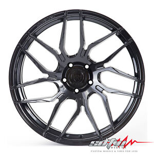 20 Rohana Rfx7 Gloss Black Concave Wheels Fits Honda 5x114 3 Or 5x4 5
