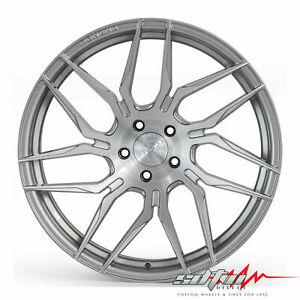19 Rohana Rfx7 Brushed Titanium Concave Wheels Fits Kia 5x114 3 Or 5x4 5