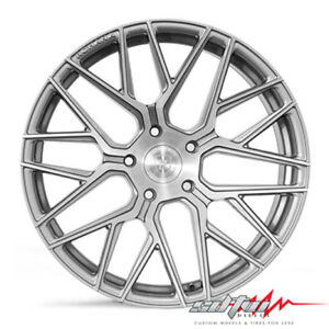 20 Rohana Rfx10 Brushed Titanium Concave Wheels Fits Ford 5x4 5 Or 5x108