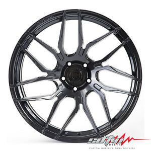 19 Rohana Rfx7 Gloss Black Concave Wheels Fits Nissan 5x114 3 Or 5x4 5