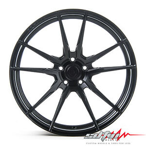 20 Rohana Rf2 Matte Black Concave Wheels Fits Scion 5x114 3 Or 5x4 5