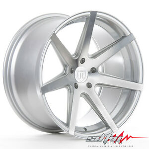 20 Rohana Rc7 Machine Silver Concave Wheels Fits Honda 5x114 3 Or 5x4 5