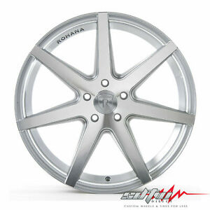 20 Rohana Rc7 Machine Silver Concave Wheels Fits Ford 5x4 5 Or 5x108