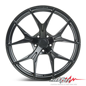 19 Rohana Rfx5 Matte Black Concave Wheels Fits Kia 5x114 3 Or 5x4 5