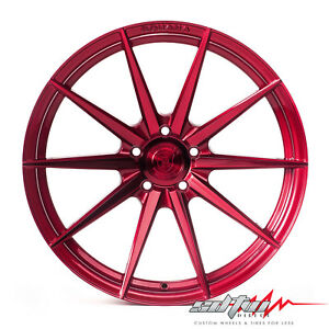 20 Rohana Rf1 Gloss Red Concave Wheels Fits Infiniti 5x114 3 Or 5x4 5