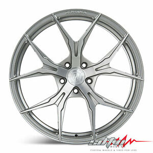 20 Rohana Rfx5 Brushed Titanium Concave Wheels Fits Nissan 5x114 3 Or 5x4 5