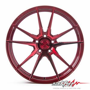 20 Rohana Rf2 Gloss Red Concave Wheels Fits Maserati 5x114 3 Or 5x4 5