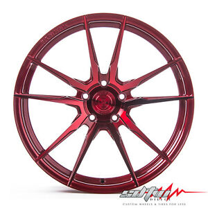 20 Rohana Rf2 Gloss Red Concave Wheels Fits Nissan 5x114 3 Or 5x4 5