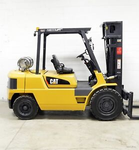 Caterpillar 9000 Lb Lpg Pneumatic Forklift 9 000 Gp40k Cat Tire Yard Truck
