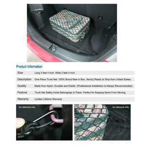Universal Elasticated Trunk Cargo Carrier Web Basket Holder Net For Subaru