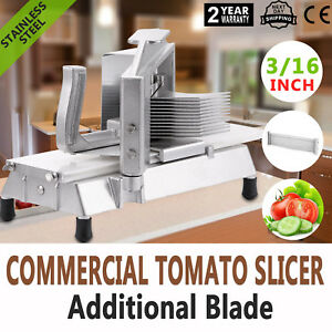 Commercial Fruits Tomato Slicer Cutter 3 16 Industrial Frame Stainless Steel