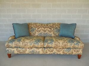 Crate Barrel English Rolled Arm Sofa By Lee Upholstery