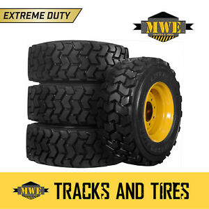 10x16 5 10 16 5 Extreme Duty 10 ply Lifemaster Skid Steer Tires Cat Rims