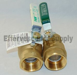 2 1 1 4 Lead Free Brass Ball Valve Full Port Threaded Connection 600wog
