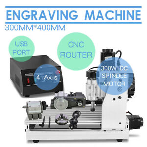 Top Usb Cnc Router Engraver Engraving Cutter 4 Axis 3040 T screw Desktop Cutting