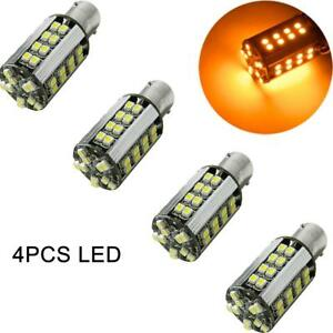 4pcs High Power Amber Yellow Ba15s 1156 Led Bulb 50 smd Turn Signal Light Canbus