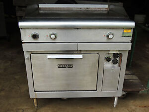 Hobart Model Cr42 Compact Oven Range And 36l X 38w X 38 1 2h Griddle Cooktop