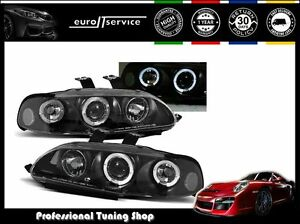 New Headlights Lpho12 Honda Civic 1991 1992 1993 1994 1995 4d Angel Eyes Rht