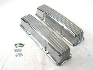 Small Block 327 350 Chevy Sbc Tall Finned Valve Cover W O Hole Bpe 2007
