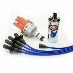 Pertronix Vw Ignition Kit With Ignitor Distributor Chrome Coil Blue Wires