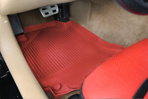 1997 2013 Corvette Custom Heavy Duty Rubber Floor Mats Torch Red