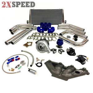Forhonda Civic D Series D16 D15 Sohc T3t4 63 Turbo Kit Intercooler Bov Manifold