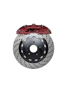 Jpm Forged Rs Big Brake 6pot Caliper Anodized Red 14 Drill Disc For A4 B8