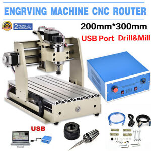 Usb 3020t 3 Axis Cnc Router Engraver 300w Engraving drill milling Cutter Machine