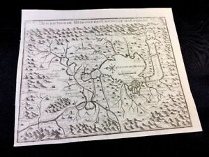 Antique Map Of Mexco 1700s