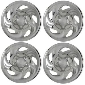 1997 2000 Ford F150 Expedition 16 Steel Wheel Chrome Skins Hubcaps Covers Set