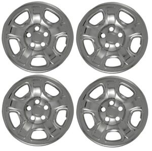 2002 2007 Jeep Liberty 16 Steel Wheel Chrome Skins Hubcaps Covers Set