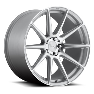 Package 19 Staggered Niche Essen M146 Silver Wheels And Tires All Cars