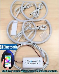 Cotton Ring Rgb Smd Led Bluetooth Angel Eye Halo Kit For 99 03 E46 2d 01 06 M3