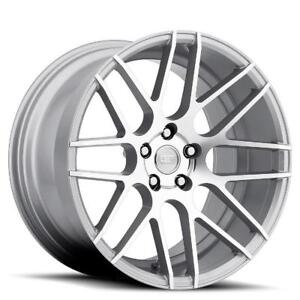20x9 Mrr Gf7 5x120 15 Silver New Rims Set 4