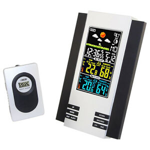 Lcd Digital Indoor Outdoor Wireless Weather Station Clock Calendar Thermometer T