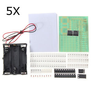 5pcs Hkt002 Smd Soldering Practice Board Electronic Components Diy Learning Kit