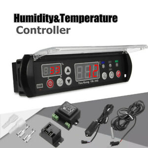 12v Microcomputer Digital Temperature Humidity Controller Thermostat Sensor