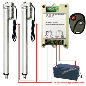 2 Set 16 12v Dc Linear Actuator W Remote Control Controller For Wedding System