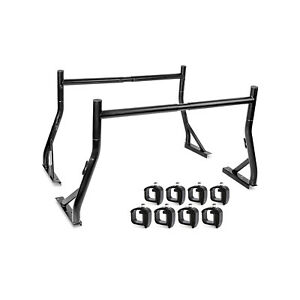 Adjustable 800lb Pickup Truck Bed Ladder Rack W Mounting Clamps Lumber Utility