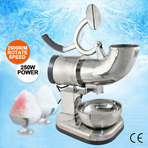 440lbs Ice Shaver Snow Cone Ice Crusher Maker Machine Device Commercial Use Bp