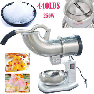 Commercial Electric 440lbs Snow Cone Ice Shaver Maker Machine Ice Crusher Us Bp