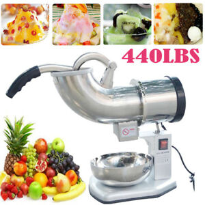 Durable Electric 440 Lbs Ice Shaver Machine Snow Cone Maker 250w Equipment Bp