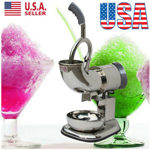 2018 Electric Ice Shaver Machine Snow Cone Maker Crusher Cold Drink 440lbs Bp