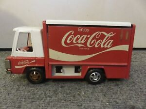 Vintage BUDDY L Coca Cola Delivery Truck Made In Japan Pressed Steel