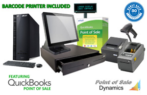 Retail Barcode Printing Point Of Sale System Bundle W Quickbooks Pos V18 Silv