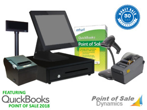 Retail Barcode Printing Point Of Sale System Bundle W Quickbooks Pos V18 Gold