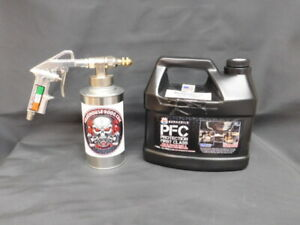 Gallon Pfc Rust Proofing Pro Undercoating Spray Gun Kit 2 Cans 1 Straight Wand