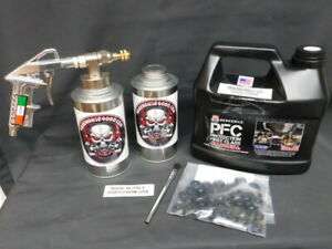 Gallon Pfc Rust Protection Pro Undercoating Spray Gun Kit W 2 Cans 100 Plugs