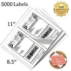5000 Self Adhesive Shipping Labels 8 5x5 5 Direct Corner Half Sheet For Ups Usps